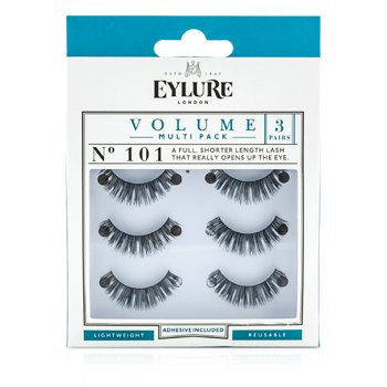 Image of Eylure Volume False Lashes Multipack - 101 Black (Adhesive Included) 3pairs
