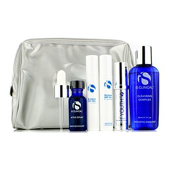 IS ClinicalAnti-Aging Travel Kit: Cleansing Complex + Youth Complex + Active Serum + Eclipse SPF 50+ + Bag (Exp. Date 09/2015) 5pcs+1bag