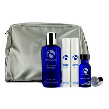 IS Clinical Anti-Aging Travel Kit: Cleansing Complex + Youth Complex + Active Serum + Bag (Exp. Date: 08/2015) 3pcs+1bag
