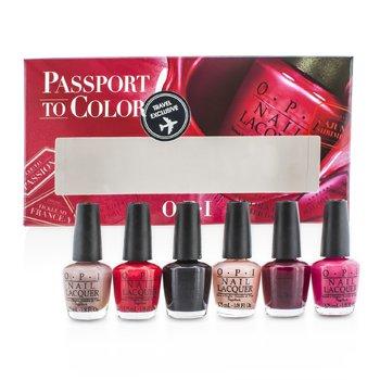 O.P.I Passport To Colors Mini Set 6x3.75ml/0.13oz