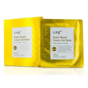 LLangSuper Repair Cream-Gel Mask - Gold (Wrinkle Care + Purifying) 5x25g/0.9oz
