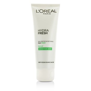 L'Oreal Hydrafresh Balancing & Refining Mild Foam PH 6.5 - For Sensitive Skin  100ml/3.4oz