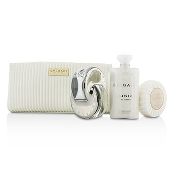 BvlgariOmnia Crystalline Coffret: Eau De Toilette Spray 65ml/2.2oz + Soap 75g/2.6oz + Body Lotion 75ml/2.5oz + Pouch 3pcs+1pouch