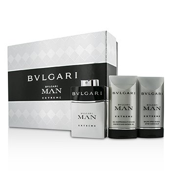 Bvlgari Man Extreme Coffret: Eau De Toilette Spray 60ml/2oz + B�lsamo para Depu�s de Afeitar 75ml/2.5oz + Gel Ducha 75ml/2.5oz  3pcs