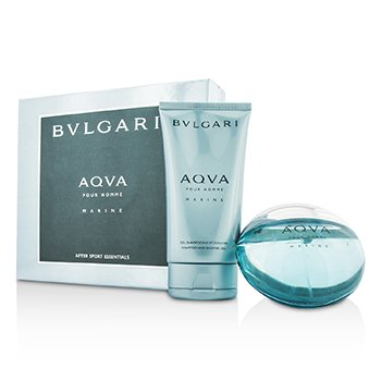 BvlgariAqva Pour Homme Marine Coffret: Eau De Toilette Spray 100ml/3.4oz + Gel Ducha 150ml/5oz 2pcs