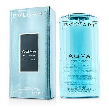 BvlgariAqva Pour Homme Marine Shampoo & Shower Gel 200ml/6.8oz