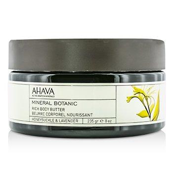 AhavaMineral Botanic Velvet Body Butter - Honeysuckle & Lavender 235g/8oz
