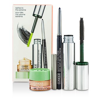 CliniqueHigh Impact High Impact Extreme Volume Mascara Set: 1x Extreme Volume Mascara, 1x Quickliner, 1x All About Eyes 3pcs