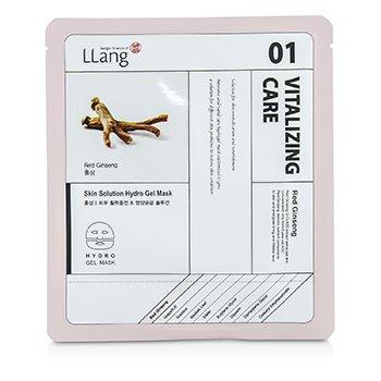 LLangSkin Solution Hydro Gel Mask - Red Ginseng (01 Vitalizing Care) 5x25g/0.9oz