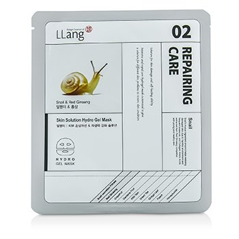 LLangSkin Solution Hydro Gel Mask - Snail & Red Ginseng (02 Repairing Care) 5x25g/0.9oz