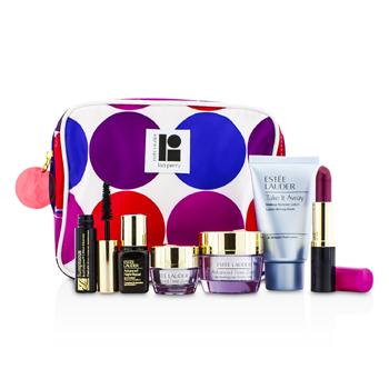 Estee LauderTravel Set: Makeup Remover 30ml + Advanced Time Zone Creme 15ml + Eye Creme 5ml + ANR II 7ml + Mascara 2.8ml + Lipstick #88 3.8g + Bag 6pcs+1bag