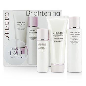 ShiseidoSet White Lucent 1-2-3: Suavizante Balance 100ml + Espuma Limpiadora W 75ml +Emulsi�n Protecci�n W SPF 18 30ml 3pcs