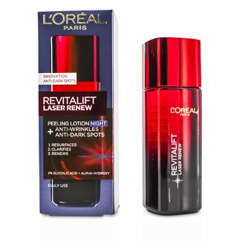 L'Oreal �Ū�蹡�ҧ�׹ Revitalift Laser Renew - Anti-Wrinkles+Anti-Dark Spots Peeling Lotion Night  125ml/4.23oz