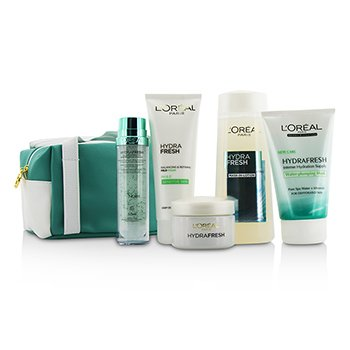 L'Oreal �ش Hydrafresh Spa Experience Set: ��ʡ��Ū�� Mask-In Lotion200ml + ������� Essence50ml + ����Ū�� Emulsion50ml + ��ʡ� Mask100ml + �� Mild Foam100ml + ������  5pcs+1bag