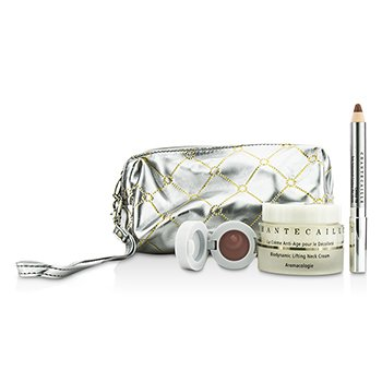 Chantecaille Skin Care Set: Neck Cream 50ml + Lip Potion 4.5g + Contour Fill 2.5g + Bag  3pcs+1bag