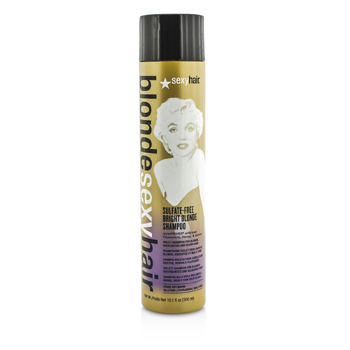 Sexy Hair ConceptsBlonde Sexy Hair Sulfate-Free Bright Blonde Shampoo (For Blonde, Highlighted and Silver Hair) 300ml/10.1oz