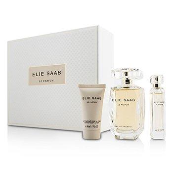 Elie Saab Le Parfum Coffret: Eau De Toilette Spray 90ml/3oz + Eau De Toilette Spray 10ml/0.33oz + Body Lotion 30ml/1oz  3pcs