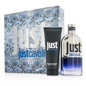 Roberto Cavalli Just Cavalli Him (New Packaging) Coffret: Eau De Toilette Spray 90ml/3oz + Shower Gel 75ml/2.5oz  2pcs