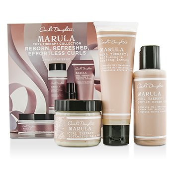 Carol's DaughterMarula Curl Therapy Collection 3-Piece Starter Kit: Cleaner 60ml + Styling Lotion 60ml + Hair Mask 60ml 3pcs