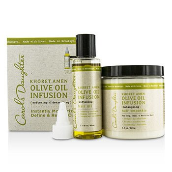 Carol's DaughterKhoret Amen Olive Oil Infusion Kit: Hair Oil 60ml + Hair Smoothie 226g 2pcs