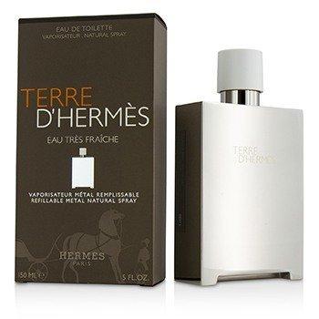 Image of Hermes Terre D'Hermes Eau Tres Fraiche Eau De Toilette Refillable Metal Spray 150ml/5oz