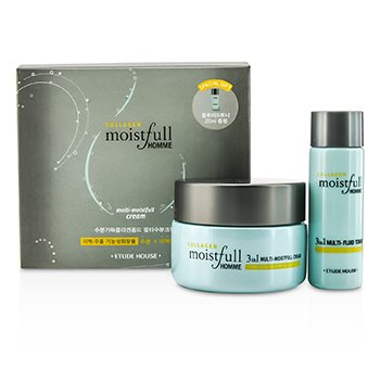 Etude House Moistfull Collagen Homme: Multi-Moistfull Cream 50ml + Multi-Fuild Toner 15 ml 2pcs