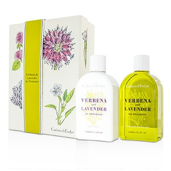 Crabtree & Evelyn Verbena & Lavender Duo: Gel Ba�o & Ducha 250ml + Loci�n Corporal 250ml  2pcs