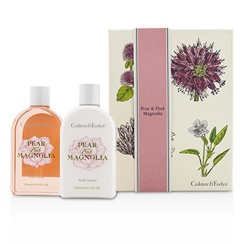 Crabtree & EvelynPear & Pink Magnolia Duo: Body Wash 250ml + Body Lotion 250ml 2pcs