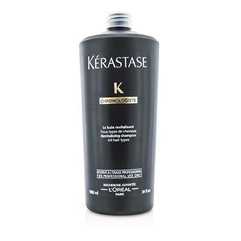 Kerastase Chronolgiste Revitalizing Shampoo (For All Hair Types)  1000ml/34oz