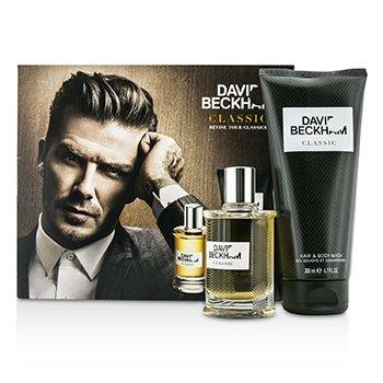 David BeckhamClassic Coffret: Loci�n para Despu�s de Afeitar 60ml/2oz + Limpiador Cuerpo & Cabello 200ml/6.7oz 2pcs