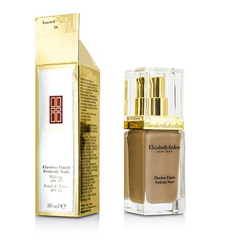 Elizabeth Arden Flawless Finish Perfectly Nude Makeup SPF 15 – # 16 Toasted Almond (Box Slightly Damaged) 30ml/1oz