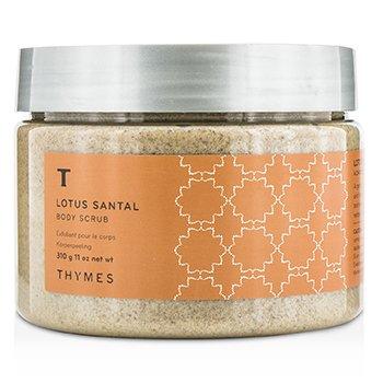 Thymes Lotus Santal Body Scrub 310g/11oz ladies fragrance
