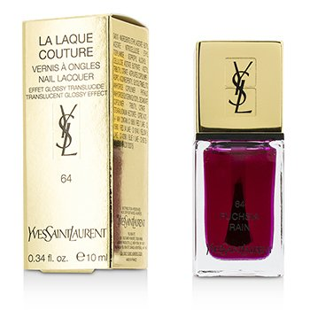 Yves Saint Laurent La Laque Couture Nail Lacquer Pop Water Collection – # 64 Fuchsia Rain (Glossy Translucent) 10ml/0.34oz
