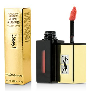 Yves Saint Laurent Rouge Pur Couture Vernis A Levres Pop Water Glossy Stain – #207 Juicy Peach 6ml/0.2oz