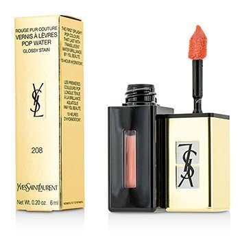 Yves Saint Laurent Rouge Pur Couture Vernis A Levres Pop Water Glossy Stain – #208 Wet Nude 6ml/0.2oz
