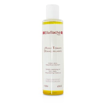 Ella BacheTomato Cleansing Oil for Face, Eyes, Long-wearing Make-up (Salon Size) 200ml/6.76oz