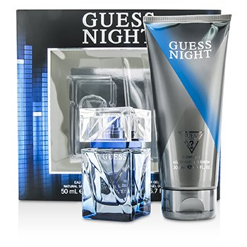 GuessNight Coffret: Eau De Toilette Spray 50ml/1.7oz + Gel Ducha 200ml/6.7oz 2pcs