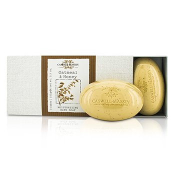 Caswell Massey Oatmeal & Honey Moisturizing Bath Soap Set  3x150g/5.2oz