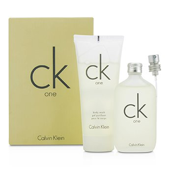 Calvin KleinCK One Kofre: EDT Sprey 50ml/1.7oz + V�cut Y�kama 100ml/3.4oz 2pcs