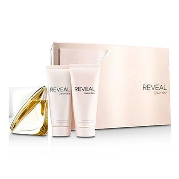 Calvin Klein Reveal Coffret: EDP Spray 100ml/3.4oz + Body Lotion 100ml/3.4oz + Shower Gel 100ml/3.4oz 3pcs