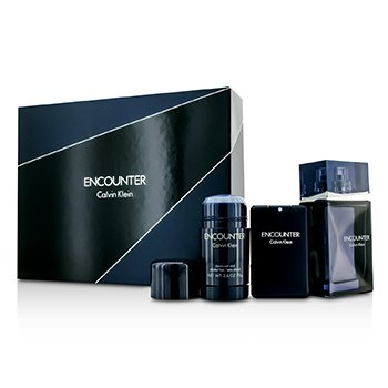 Calvin Klein Encounter Coffret: EDT Spray 100ml/3.4oz + EDT Spray 20ml/0.67oz + Deodorant Stick 75ml/2.6oz 3pcs