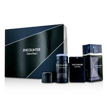 Calvin KleinEncounter Coffret: Eau De Toilette Spray 100ml/3.4oz + Eau De Toilette Spray 20ml/0.67oz + Deodorant Stick 75ml/2.6oz 3pcs