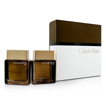 Calvin Klein Euphoria Intense Coffret: Eau De Toilette Spray 100ml/3.4oz + Despu�s de Afeitar 100ml/3.4oz  2pcs