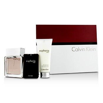 Calvin Klein Euphoria Intense Coffret: Eau De Toilette Spray 100ml/3.4oz + B�lsamo para Depu�s de Afeitar 100ml/3.4oz + Eau De Toilette 20ml/0.67oz  3pcs