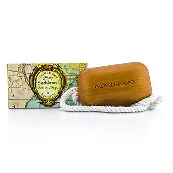 Caswell Massey Sandalwood (Woodgrain) Soap On A Rope 227g/8oz