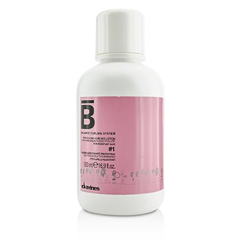DavinesBalance Curling System Protecting Curling Lotion # 1 (For Resistant Hair) 500ml/16.9oz