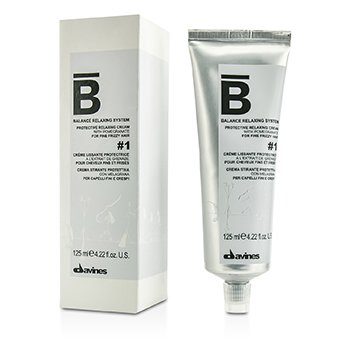 DavinesBalance Relaxing System Protective Relaxing Cream # 1 (For Fine Frizzy Hair) 125ml/4.22oz