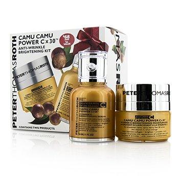 Peter Thomas RothCamu Camu  Kit: Vitamin C Brightening Serum 30ml + Vitamin C Brightening Moisturizer 15ml 2pcs