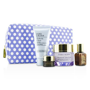 Estee LauderAdvanced Time Zone Set: Age Reversing Creme 50ml + Advanced Night Repair II 15ml + Advanced Night Repair Eye II 5ml + Perfectly Clean 50ml + Bag 4pcs+1bag