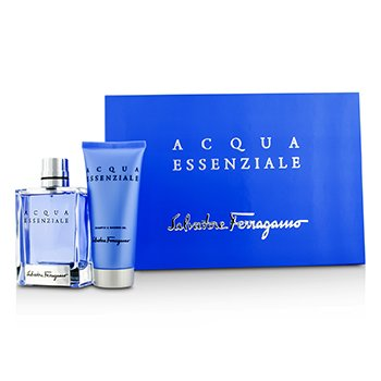 Salvatore FerragamoAcqua Essenziale Coffret: Eau De Toilette Spray 100ml/3.4oz + Champ� & Gel Ducha 100ml/3.4oz 2pcs